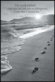 Footprints Mini Mounted Print  -              By: Dennis Frates