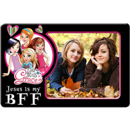 Magnetic Photo Frame, Jesus is My BFF, Little Miss Grace  -