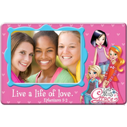 Magnetic Photo Frame, Live a Life of Love, Little Miss Grace  -