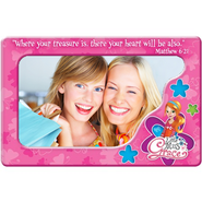 Magnetic Photo Frame, Where Your treasure Is, Little Miss Grace  -