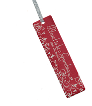 Personalized, Blessed to Be a Grandma Bookmark, Red   -