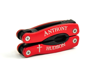 Personalized, Cross Red Multi Tool   -