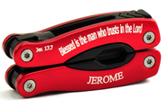 Personalized, Blessed is the Man Red Multi Tool   -