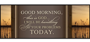 Good Morning, This Is God--Mini Mounted Print  -