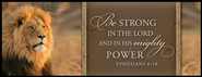 Be Strong in the Lord Mini Mounted Print   -