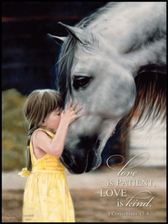 Love is Patient Mounted Print  -              By: Lesley Harrison