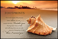 Footprints on the Shore Mini Mounted Print  -