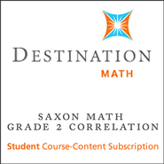 Saxon Grade 2 Destination Math Levels 1 & 2 12-Month Online Subscription (Content Only)  -