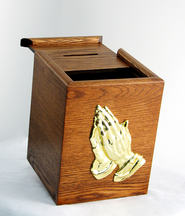 Oak Prayer Card Box  -