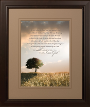 Be Still Before the Lord Framed Print  -