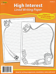 High Interest Fancy Lined Writing Paper  -