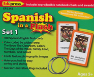 Spanish in a Flash Flash Cards, Set 1  -