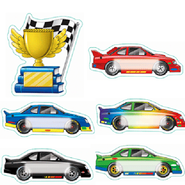 Race Cars Bulletin Board Accents  -
