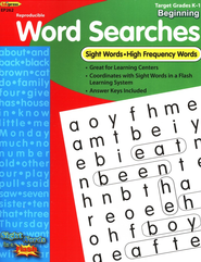 Sight Word Searches, Beginning, Grades K-1  -