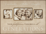 3 Generations Photo Frame, Your Faithfulness  -