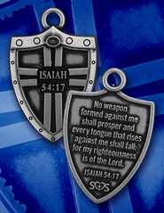 Shield of Strength Necklace, Isaiah 54:17   -