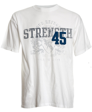 Strength 45 Applique Shirt, Ivory,   Large  -