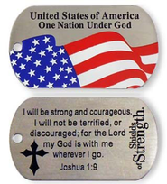 USA One Nation Under God Tag    -
