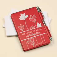 He Loves Us With Unfailing Love Memo Holder  -