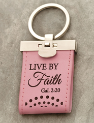 Live by Faith Keychain  -