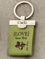 Love Never Fails Keychain  -