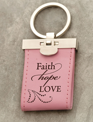 Faith Hope Love Keychain  -