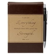 I Can Do Everything Pocket Notes, Brown and Black  -