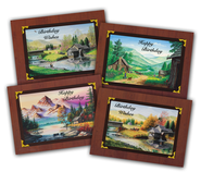 The Back Road Artist Birthday Cards, Box of 12  -