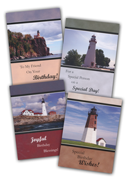 Lighthouses Birthday Cards, Box of 12  -