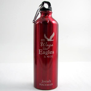 Personalized Eagle's Wings Water Bottle, Red   -