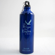 Personalized Eagle's Wings Water Bottle, Blue   -