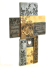 Love Never Fails--Wall Cross   -