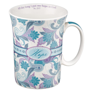 Paisley Mug with Coaster, Hope  -
