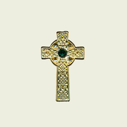 Celtic Lapel Pin Cross, Irish Blessing  -