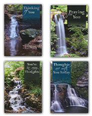 Waterfalls Encouragement Cards, Box of 12  -