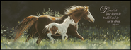 Keeping up with Mom Horses, John 14:27 Mounted Print  -              By: Lesley Harrison