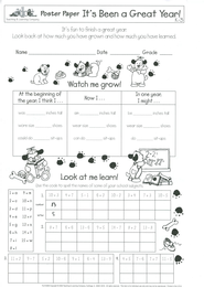 It's Been a Great Year! Grades K-3 Poster Papers  (Pack of 30)  -