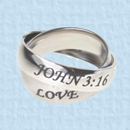 Axis Rings, John 14:6 & John 3:16, Size 5   -