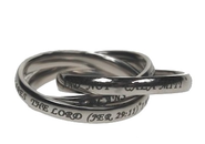 Triple Band Ring, Jeremiah 29:11, Size 7  -