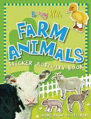 Busy Kids Sticker Book Farm Animals  -     By: Chris Scollen