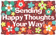 Sending Happy Thoughts Your Way! Postcard, 25    -