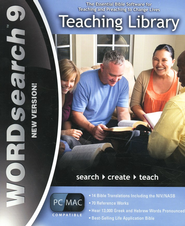 WORDsearch 9 PC/Mac Teaching Library on DVD-ROM   -