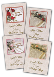 Bible and Roses Wedding Cards, Box of 12  -