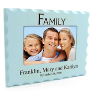 Personalized, Family Photo Frame for 4X6, Blue   -