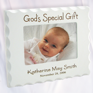 Personalized, God's Special Gift, White Photo Frame  -