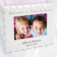 Personalized, Sisters By Heart, White Photo Frame  -