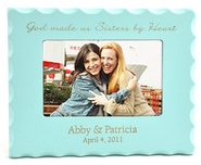 Personalized, Sisters By Heart, Blue Photo Frame  -