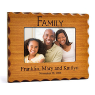 Personalized, Family Photo Frame for 4X6, Natural Wood   -