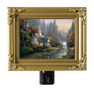 The Forest Chapel, Nightlight   -              By: Thomas Kinkade