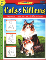 Draw & Color Cats & Kittens   -